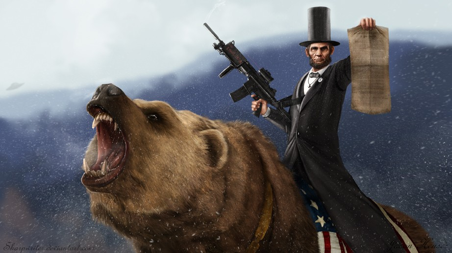 Abraham Lincoln Riding a Bear SR Geek Picks: The Matrix In 60 Seconds, The Best Time Travel Movies, DiCaprio is Jack Nicholson, & More!