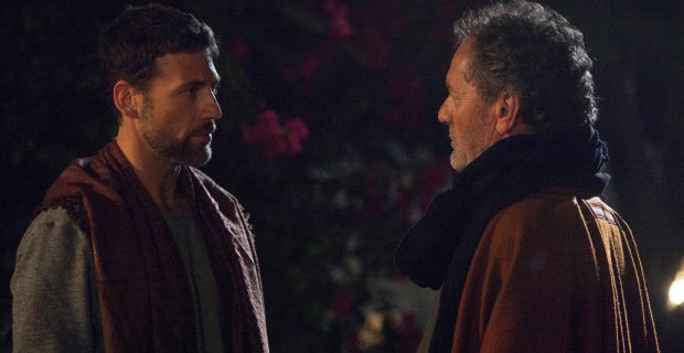 Adam Rayner and Mohammed Bakri in Tyrant Season 1 Episode 5 Tyrant Plays a Dangerous Game