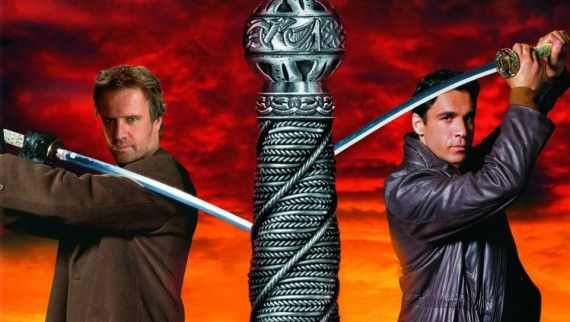 Adrian Paul Christopher Lambert Highlander Endgame 570x322 Adrian Paul and Christopher Lambert in Highlander Endgame