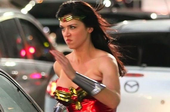 Adrianne Palicki in Wonder Woman costume Adrianne Palicki in Wonder Woman costume