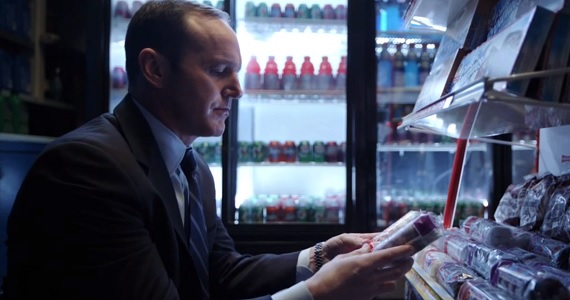 Agent Phil Coulson selects donuts in A Funny Thing Happened on the Way to Thors Hammer The Avengers: Age of Ultron Probably Wont Include Agent Coulson