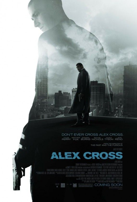 Alex Cross Movie Poster 570x843 Alex Cross Trailer & Poster: Tyler Perry Hunts Sadist Killer Matthew Fox