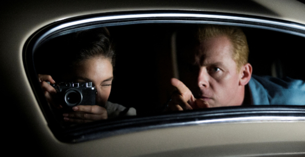 Alexa Davalos and Simon Pegg in Mob City Season 1 Episode 3 Mob City: Turf Wars & Fresh Produce