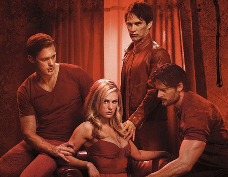 Alexander Skarsgard Anna Paquin Stephen Moyer and Joe Manganiello in True Blood