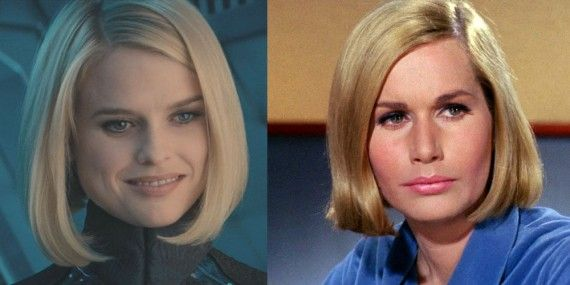 Alice Eve Elizabeth Dehner 570x285 Analyzing The First Star Trek 2 Teaser Trailer   What Can We Learn?