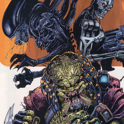Alien vs Predator vs Terminator Comic Book Cover