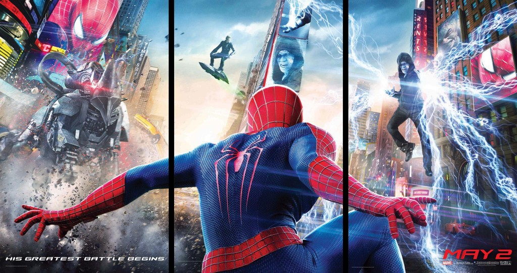 Amazing Spider Man 2 Official High Res Banner 1024x542 Amazing Spider Man 2 International Posters: Times Square Showdown