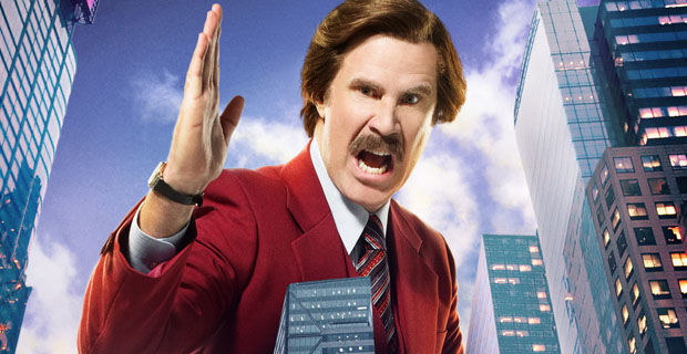 Anchorman 2 Ron Burgundy New York Scene Descriptions & New Character Posters For Achorman 2