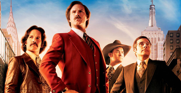 Anchorman 2 Scenes Edit Bay Scene Descriptions & New Character Posters For Achorman 2