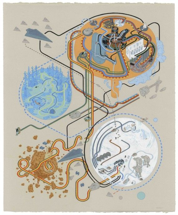 Andrew DeGraff Empire Strikes Back 570x689 SR Geek Picks: Mario Warfare 2, Hawkeye Runs Out of Arrows, Killing Joke Cosplay & More!