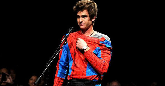 Andrew Garfield Spider Man Comic Con 2011 Amazing Spider Man Interviews: Marc Webb, Emma Stone & Rhys Ifans