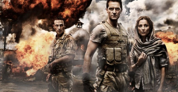 Andrew Lincoln Richard Armitage and Orla Brady in Strike Back Orgins Strike Back: Origins Premiere Review