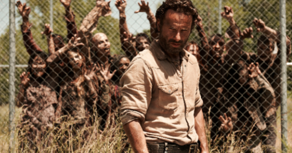 Andrew Lincoln in The Walking Dead Season 4 Frank Darabont Reflects on Walking Dead Controversy & Sociopaths at AMC
