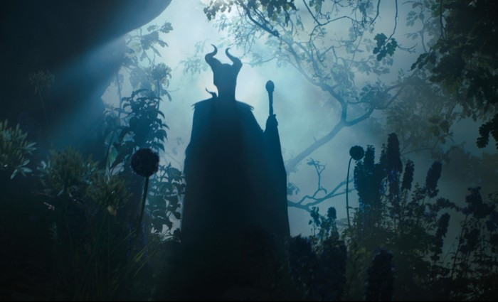 Angelina Jolie in Silhouette in Maleficent 700x425 Maleficent Hi Res Images Bring Sleeping Beauty to Life