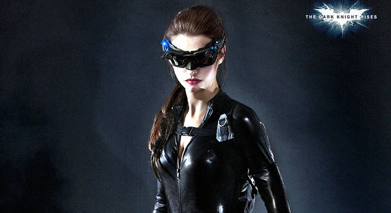 Anne Hathway Dark Knight Rises Catwoman Costume Hathaway Talks Dark Knight Rises Costume; Catwoman Stunt Goes Wrong