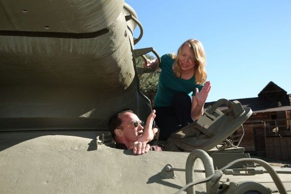 Arnold Schwarzenegger Tank Ride Interview Amy Arnold 570x380 The Last Stand Interview: Arnold Schwarzenegger Takes Us on a Tank Ride