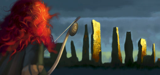 Artwork for Pixar movie Brave Pixars Brave Concept Art Reveals A New Princess Fairy Tale