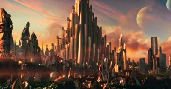 Asgard in the movie Thor First Thor Clip Is A Mixed Bag