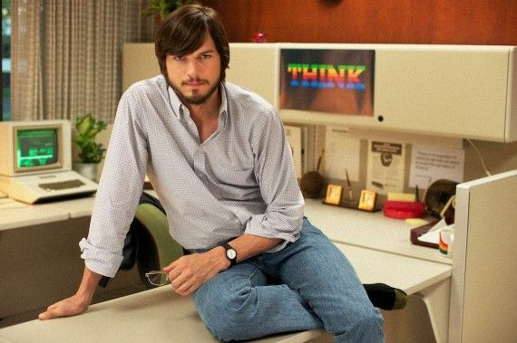 Ashton Kutcher in Steve Jobs Biopic 570x379 Ashton Kutcher as Steve Jobs