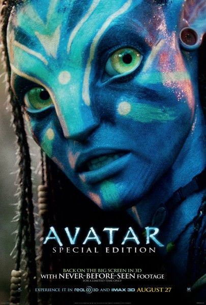 Avatar re release poster Poster Friday: Resident Evil 4, Piranha 3D, Saw 3D & More!