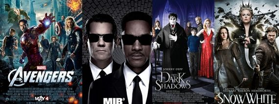 Avengers Dark Shadows Snow White Men in Black 3 Abraham Lincoln Vampire Hunter Clips Videos Movie Media Roundup: Avengers, MIB 3, Dark Shadows, Snow White & More