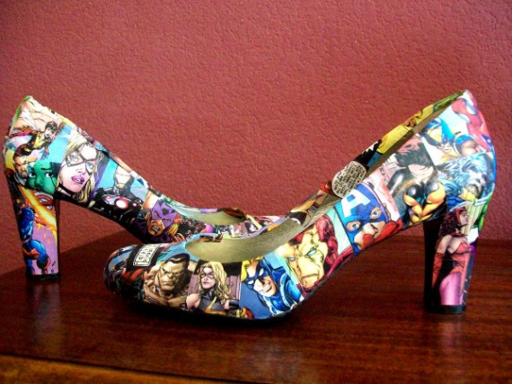 Avengers shoes 570x427 SR Geek Picks: Iconic Movie Cars, Subway Bragger Prank, Jay Zs Picasso Baby & More