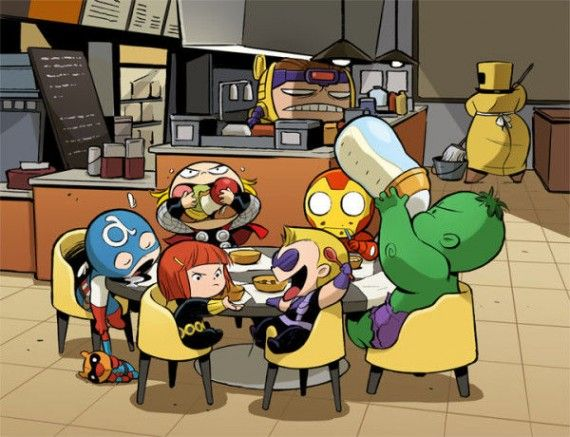 Baby Shawarma 570x437 SR Geek Picks: 8 Bit Looper, Life Size LEGO Iron Man, Dark Knight Meets Avengers & More