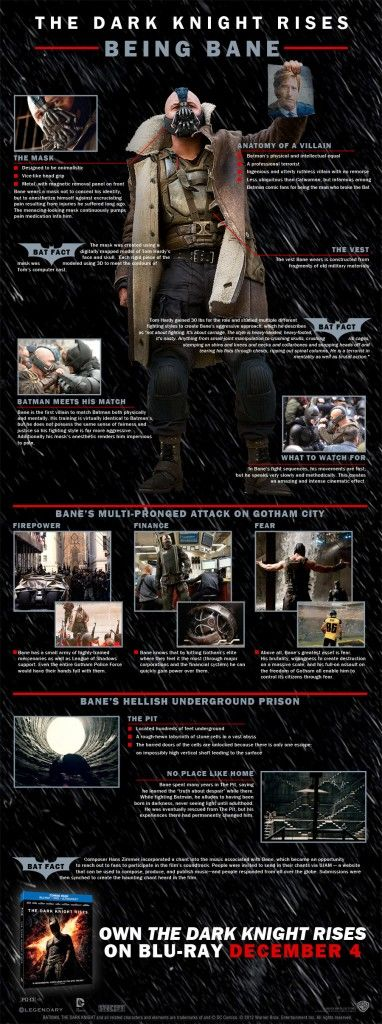Bane Infographic 382x1024 SR Geek Picks: A DeLorean Taxi, Doctor Who Christmas Decorations & More!