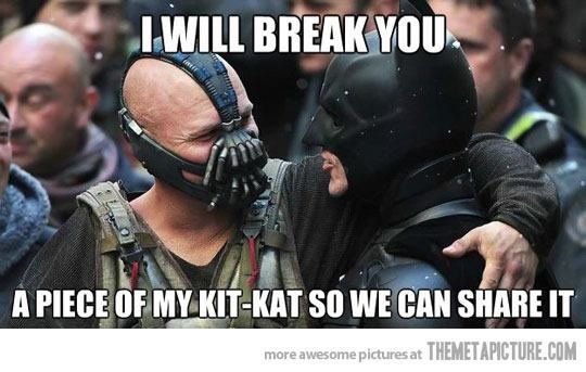 Bane Kit Kat SR Geek Picks: Sesame Street Batman, Breaking Bad Print, Bane Memes & More!