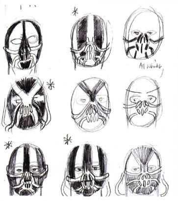Bane Mask Dark Knight Rises Concept Artwork Bane Mask Dark Knight Rises Concept Artwork