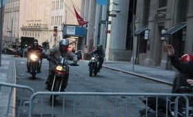 Banes Mercenaries On Motorcycles On Wall Street 280x170 Dark Knight Rises On Wall Street; Batwing Soars & A Mystery Device