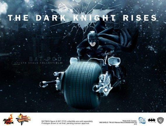 Bat Pod Collectible DX Batman Hot Toys 570x434 Bat Pod Collectible with DX Batman (Hot Toys)