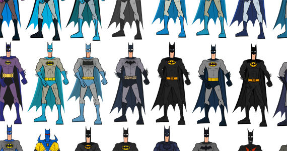 Batman Infographic Every Bat Suit Ever Batman Infographic: Every (Significant) Bat Suit Ever