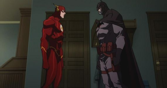 Batman Kevin McKidd and Flash Justin Chambers in Justice League The Flashpoint Paradox Justice League: The Flashpoint Paradox Review