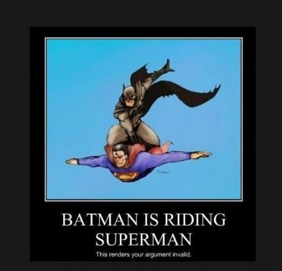 Batman Riding Superman 570x548 SR Geek Picks: Bane After Batman, Batgirl Trailer, Dark Knightfall Short Film & More