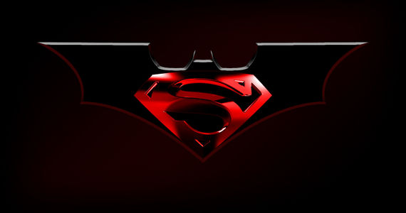 Batman Superman Movie Logo Worlds Finest Batman/Superman Movie to Follow Man of Steel; Will Release in 2015 [CONFIRMED]