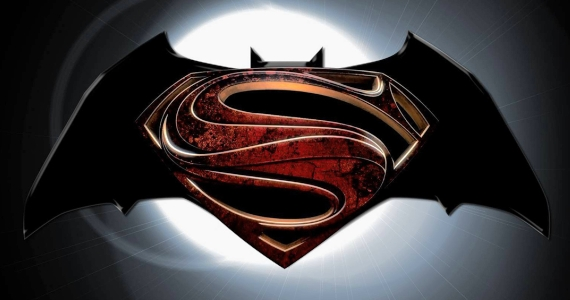 Batman Superman Movie Logo Batman vs. Superman Artwork Revealed at Man of Steel Fan Event