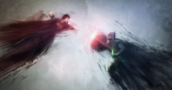 Batman Versus Superman 2015 jmattisson Fan Art Batman vs. Superman: Young Luthor Explained & Damon Comments on Batsuit