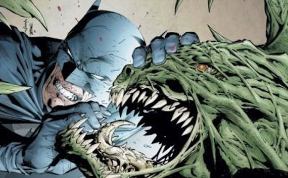 Batman fighting Killer Croc in Batman 3 Rumor Patrol: Batman 3 To Include Villain Killer Croc? [Updated]
