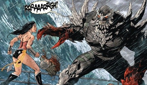 Batman vs. Superman Wonder Woman vs Doomsday 570x330 Batman vs. Superman Rumor: Wonder Woman To Have Different Armor