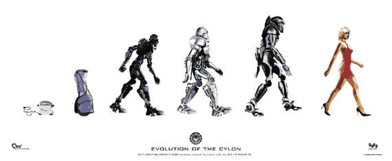 Battlestar Evolution Cylon poster Poster Friday Pt.2: Iron Man 2, Kick Ass & Many More!
