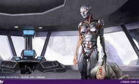 Battlestar Galactica Blood and Chrome cylon cyborg 280x170 Battlestar Galactica: Blood and Chrome Concept Art