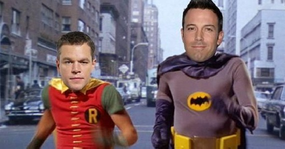 Ben Affleck and Matt Damon as Batman and Robin Matt Damon Wont Play Robin to Batfleck, Responds to Internet Grousing