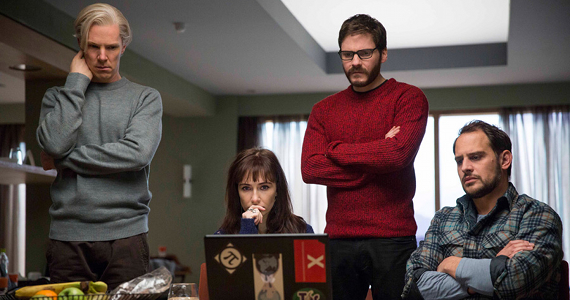 Benedict Cumberbatch Daniel Brühl Moritz Bleibtreu and Carice van Houten in The Fifth Estate 2013 The Fifth Estate Review