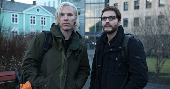 Benedict Cumberbatch and Daniel Brühl in The Fifth Estate The Fifth Estate Review