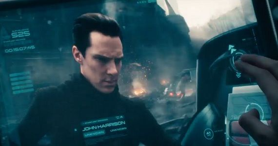 Benedict Cumberbatch as John Harrison in Star Trek Into Darkness Star Trek Into Darkness: Zachary Quinto & Chris Pine on Friendship, Villains, & Volcanoes