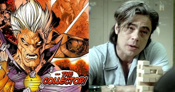 Benicio Del Toro The Collector Benicio Del Toro Talks The Collector in Guardians of the Galaxy