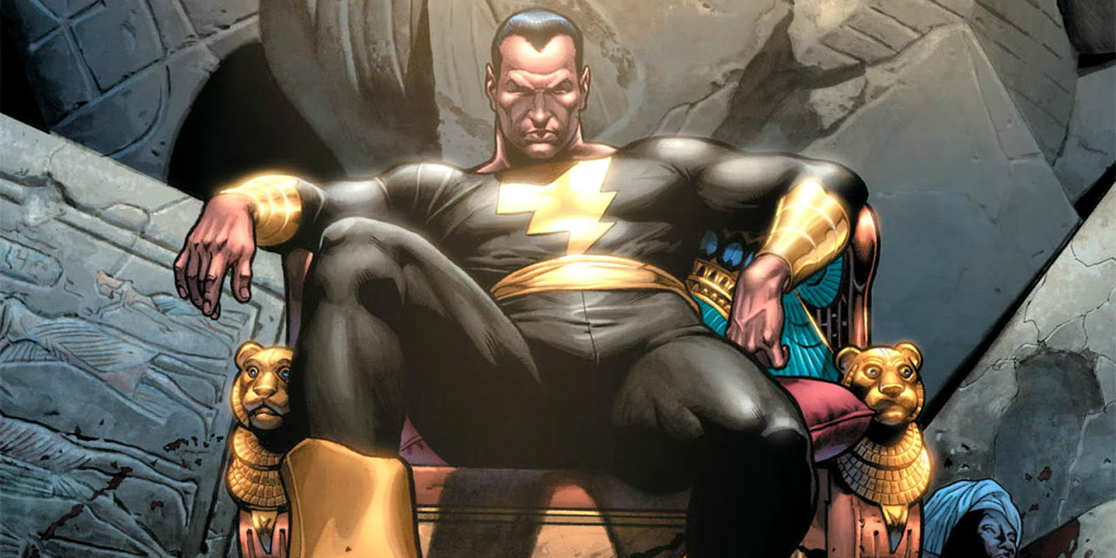 Black Adam from DC Comics Shazam: What The Rock Could Look Like as Black Adam