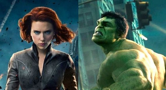 Black Widow Scarlett Johansson and Hulk Mark Ruffalo The Avengers Video Interview The Avengers Video Interview; Black Widow Not in Iron Man 3 & Creating a Better Hulk