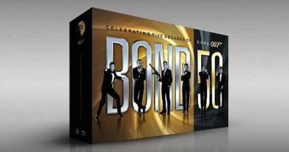 Bond 50th Anniversary Blu ray MGM Promotes 50th Anniversary James Bond Blu ray Collection at Comic Con